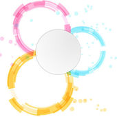 Bright modern circle design — Stock Vector