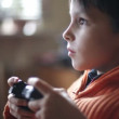 Games console, boy — Vídeo Stock #24655737