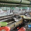 Stock Video: Old silk machines