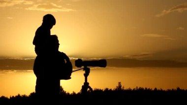 Camera, photographer, silhouette — Stock Video