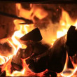 Fire in a fireplace — Stock Video #24671941