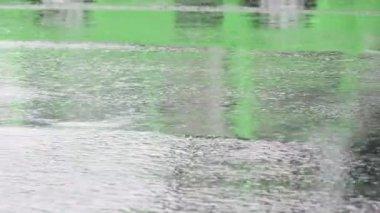Pioggia, asfalto — Video Stock