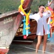 Stock Video: Happy womon Phi Phi islands