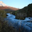 Stock Video: Mountain river, autumn, tundra