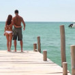 Loving couple on the beach — Vídeo Stock