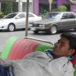 Sleeping asian man — Stock Video