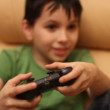 Games console, boy — Stock Video #25434511