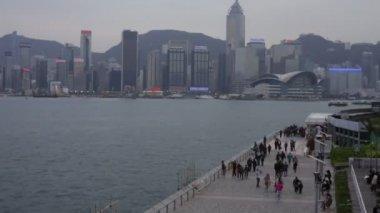At Tsim Sha Tsui in Hong Kong — Stock Video