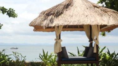 海、リラックス、椅子 — ストックビデオ