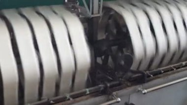 Old silk machines — Stock Video