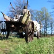 Ploughing the Field with Horses — Stock Video