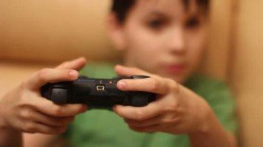 Konsol Oyunları, çocuk — Stok video