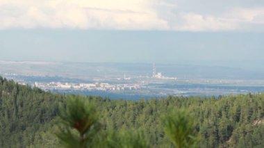 Krasnoyarsk city landscape — Stock Video