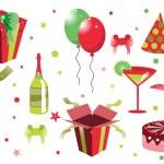 Birthday icons — 图库照片 #1103012