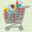 Full shopping cart — Vector de stock