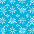 Blue snowflake pattern - Stock Vector