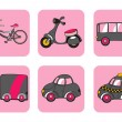 Transportation icons - Stok Vektr
