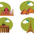 Travel icons - Stock Vector