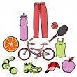 Healthy life style — Stock Vector #12040572