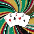 Gambling cards — Vector de stock