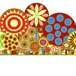 Funky floral background - Stock Vector