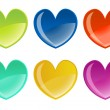 Beautifull hearts icon set — Vektorgrafik