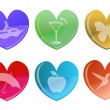 Beautiful hearts — Imagen vectorial