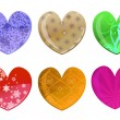Beautifull hearts icon set — Stock Vector