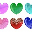 Beautifull hearts icon set — Stockvectorbeeld