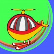 Funny helicopter - Stock Vector