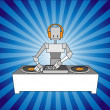 Dj robot - Stock Vector