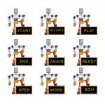 Funky robots — Stock Vector #12040804