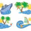 summer beach — Stock Vector