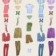 Men clothes icons - Stock Vector