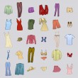 Royalty-Free Stock Vector Image: Clothes icons