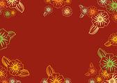 Cadre floral — Vecteur