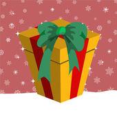 Christmas presents box — Stock Vector
