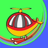 Funny helicopter — Stock Vector
