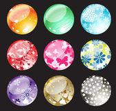 Decoration balls — Stock Vector