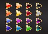Botones de flecha de triángulo — Vector de stock