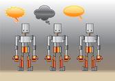 Funny robots — Stock Vector