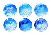 Globe ikony — Stock vektor