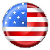 Round button flag — Stock Vector
