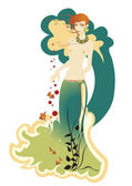 Mermaid — Vector de stock