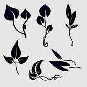 Plants silhouettes — Stock Vector