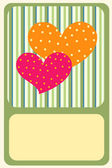 Greeting card — Vettoriale Stock