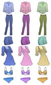 Women clothes — Stock Vector