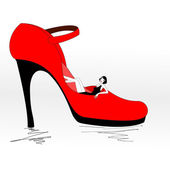 Stiletto heel — Stock Vector