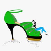 Smart Shoe — Stock Vector
