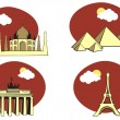 Travel icons - Imagens vectoriais em stock